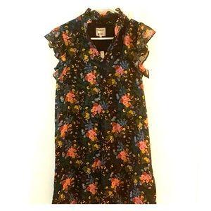 Madewell ruffle sleeve floral dress NWT